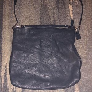 Black leather authentic Coach bag